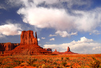 Dramatic rock formations in the Navajo Park Monument Valley