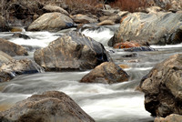 Slow exposure of a rapids in the Merced River in Yosemite Nation
