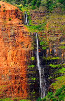 Waipoo falls in Waimea Canyon