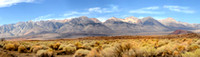 Panorama of the southern tip of the Sierra Nevada Mountains loca