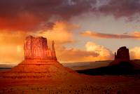 Dramatic view of rock formations in the Navajo Park of Monument